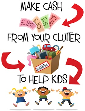 Make Cash From Your Clutter To Help Kids